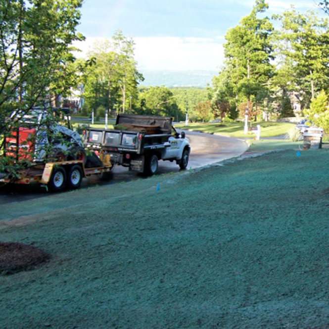 Hydroseeding Solves Two Common Problems.